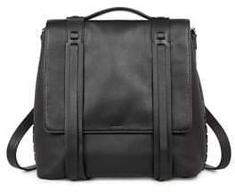 AllSaints Fin Leather Shoulder Backpack