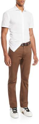 Ermenegildo Zegna Men's 5-Pocket Stretch-Canvas Pants