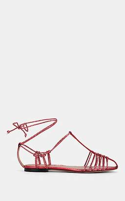 Altuzarra Women's Tullio Stamped Metallic Leather Sandals - Pink