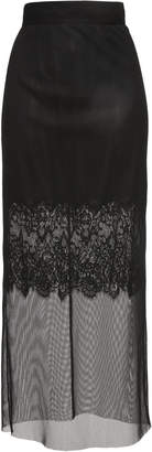 Dolce & Gabbana Midi Lace Embroidered Skirt
