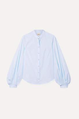 Khaite - Willa Cotton-poplin Shirt - Light blue