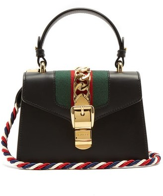 Gucci Sylvie Mini Leather Cross Body Bag - Womens - Black