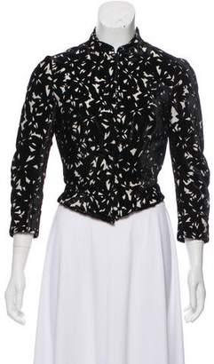 Balenciaga Textured Mandarin Collar Jacket