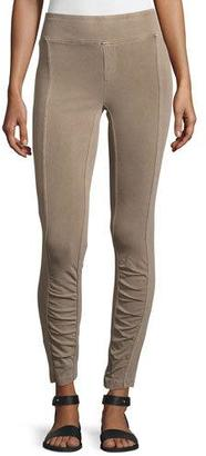XCVI Benatar Ruched Ankle Ponte Leggings $130 thestylecure.com