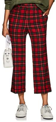 R 13 Women's Wool Plaid Straight-Leg Trousers