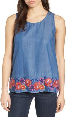 Tommy Bahama Frieda Floral Embroidered Top