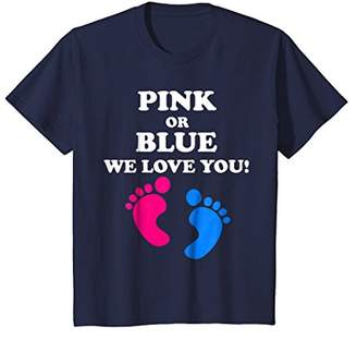 Pink Or Blue We Love You - Baby Shower Gender Reveal T Shirt