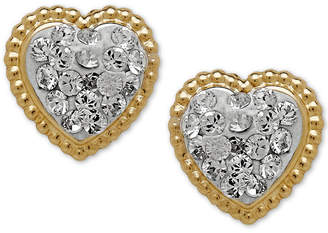 Macy's Children's 14k Gold Earrings, Crystal Heart Earrings
