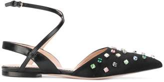 RED Valentino crystal embellished pumps