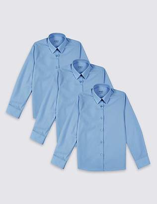 Marks and Spencer 3 Pack Girls' Slim Fit Blouses