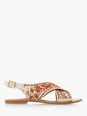 Bertie Luchia Canvas Embellished Sandals
