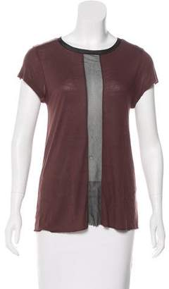 AllSaints Scoop Neck Short Sleeve Top
