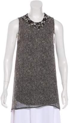 3.1 Phillip Lim Silk Embellished Sleeveless Top