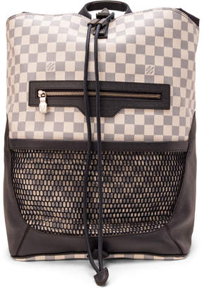Louis Vuitton Backpack Matchpoint Damier Coastline Mesh Pocket Black/White/Blue