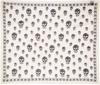 Alexander McQueen Ivory & Black Skull Scarf $275 thestylecure.com
