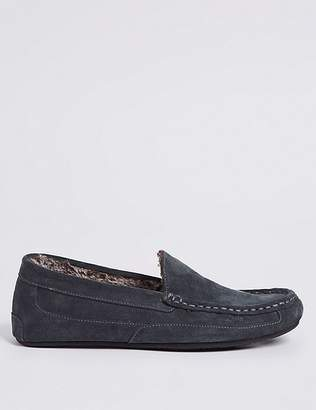 Marks and Spencer Suede Moccasin Slippers with Thinsulate TM