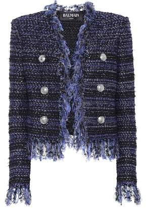 Balmain Fringe-trimmed bouclé jacket