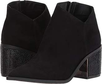Kenneth Cole Reaction Women's Cue The Music Notch Western Style Micro Ankle Bootie