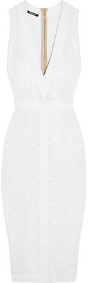 Balmain - Jacquard-knit Dress - White $2,230 thestylecure.com