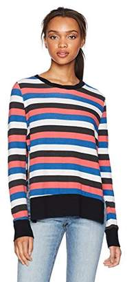 Pam & Gela Women's Multicolor Stripe Sweatshirt