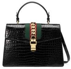 Gucci Sylvie Crocodile Shoulder Bag