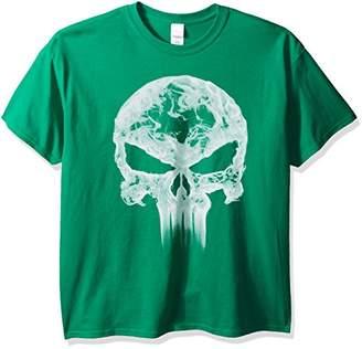 Marvel Men's Punisher Classic Logo Smoke T-Shirt