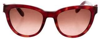 Salvatore Ferragamo Patterned Cat-Eye Sunglasses w/ Tags