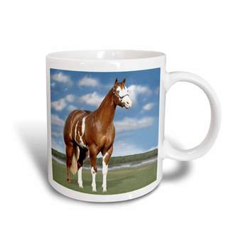 3dRose Champion Paint Quarter Horse, Ceramic Mug, 11-ounce