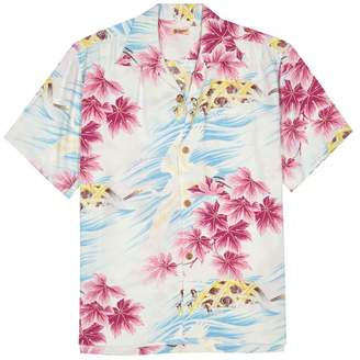 Sun Surf Hawaiian-print Crepe Shirt