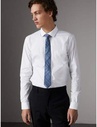Burberry Slim Fit Stretch Cotton Poplin Shirt