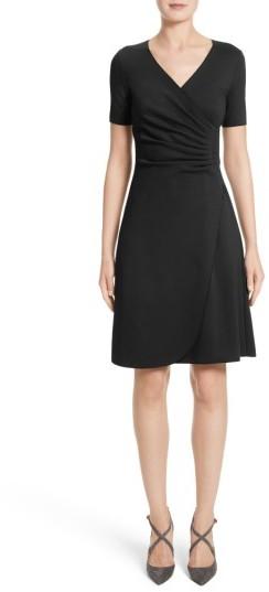 Women's Armani Collezioni Milano Jersey Faux Wrap Dress