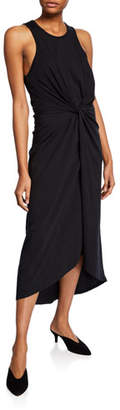 Joie Seamour Sleeveless Twisted-Front High-Low Dress