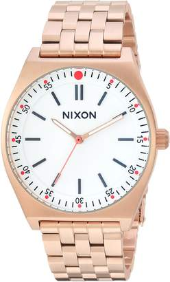 Nixon Women's 'Crew' Quartz Stainless Steel Casual Watch, Color:Rose Gold-Toned (Model: A11862761)