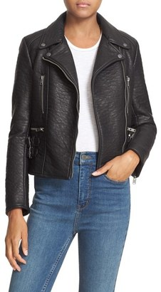 Free People 'Soho' Faux Leather Moto Jacket $198 thestylecure.com
