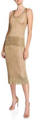 Herve Leger Shimmer Midi Skirt