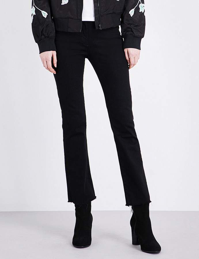 3x13X1 Bootcut cropped mid-rise jeans