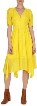 The Kooples Empire Silk Fit Flare Dress