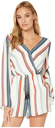 Cupcakes And Cashmere Caprice Striped Long Sleeve Romper
