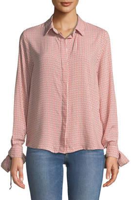 Velvet Heart Larissa Tie-Cuff Button-Front Blouse