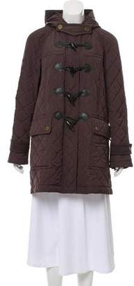 Burberry Hooded Quilted Short Coat