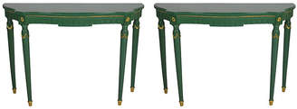 One Kings Lane Vintage Neoclassical Console Tables - Set of 2 - SWI Vintage
