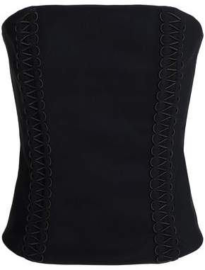 Dion Lee Strapless Lace-Up Crepe Top