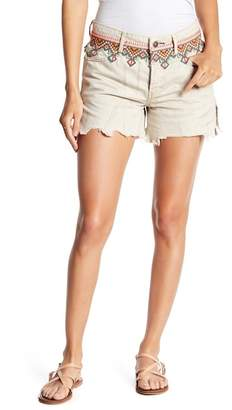 Free People Embroidered Cut-Off Short