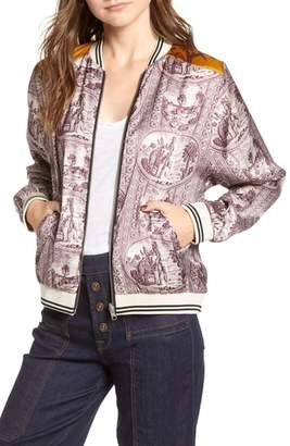 Scotch & Soda Reversible Satin Bomber Jacket