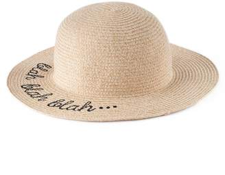 "Lauren Conrad Women's Blah Blah Blah"" Floppy Hat"