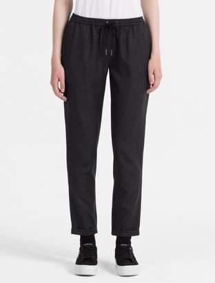 Calvin Klein slim fit wool twill pants