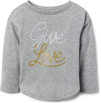 Crazy 8 Crazy8 Toddler Give Love Glitter Tee