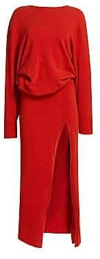 Jacquemus Women's Jemaa Side Slit Maxi Sweater Dress