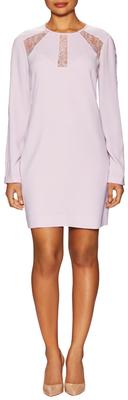 BCBGMAXAZRIAPeyten Lace Trim Shift Dress