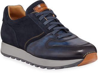 Magnanni Men's Leather & Suede Sneakers